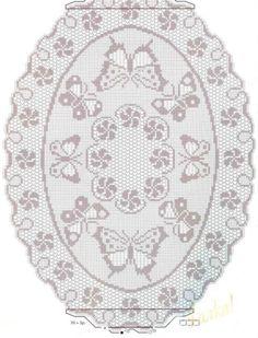butterfly filet crochet doily pattern