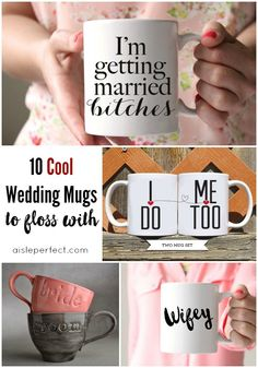 10 Cool Wedding mugs to floss with
