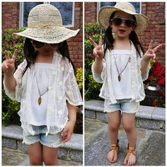 Little girl summer outfit fashion