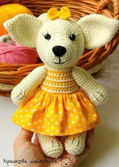 Большая коллекция схем вязаных игрушек. Откройте мир амигуруми вместе с нами! Crochet Baby, Free Crochet, Knit Crochet, Crochet Ideas, Baby Toys, Crochet Amigurumi Free Patterns, Crochet Dolls, I Like Dogs, Amigurumi Doll