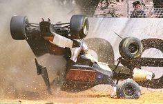 There was carnage at Albert Park on the opening lap of its debut race in 1996, with Martin Brundle's Jordan (above) colliding with Johnny Herbert's Sauber before hurtling into the crash barriers. Remarkably the Brit walked away from the crash unharmed