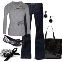 Casual Sunday afternoon or a slow day in the office, created by alanad23 on Polyvore