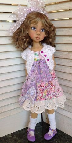 Full outfit includes hand knit sweater! ~Fits Kaye Wiggs Hope + Talyssa~by DCH