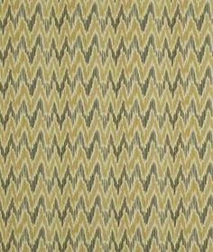 Robert Allen @ Home Tuscan Ikat Bk Cinder Flax Fabric | onlinefabricstore.net
