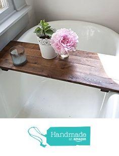 Rustic Wood Bathtub Tray - Walnut Bath Tub Caddy Wooden Bathtub Shelf Computer Desk Gaming Board Clawfoot Tub Tray Handmade from WhiskyGinger http://smile.amazon.com/dp/B0173XMW84/ref=hnd_sw_r_pi_dp_HUfDwb1DBAA4S #handmadeatamazon