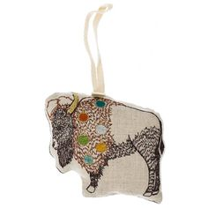 Bison Embroidered Ornament