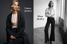 Life In Suit and Heels: H&M antecipa Primavera Fantasy Fashion, Slim Fit Pants, Parisian Chic, High Jeans, Fashion Lookbook, Long Cardigan, V Neck Dress, Lace Tops, Workout Pants