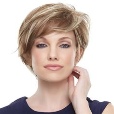 Mariska -   SMARTLACE COLLECTION by Jon Renau   At last, the perfect mash up of pixie shortness and long front layers! The SmartLace front, monotop, and 100-percent hand tied cap look and feel supremely natural.