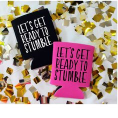 Let's Get Ready to Stumble Can Cooler Drinking Can Cooler, Beverage Insulator, Custom Can Cooler, Beach Can Cooler, Bachelorette Party by ShopatBash on Etsy