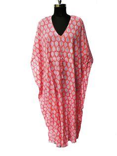 Long Cotton Kaftan, Indian Floral Kaftan,Nursing Kaftan,Maternity Dress Beach Cover up Sleepwear,Indian Kaftan Women Tunic ,Bikini Cover Up by indiantexture on Etsy