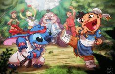 lio and stitch street fighter