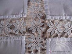 manteles crochet combinados tela - Buscar con Google