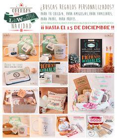 ¡ENCARGA TUS REGALOS PERSONALIZADOS HASTA EL 15 DE DICIEMBRE! http://lolawonderful.blogspot.com.es/2014/12/ofertas-regalos-navidad-2.html No te pierdas las ofertas que tenemos. Regalos para parejas, para amigos, para familiares, para papis, para profes... REGALOS DESDE 6€!! ¿Cual es el tuyo? Lola Wonderful_Blog: Ofertas Regalos Navidad 2