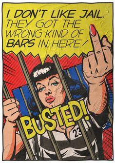 Art by Butcher Billy, Words by Bukowski