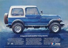 "1981 Jeep CJ Renegade Ad ""Storm""-Original-Stills Of Time"