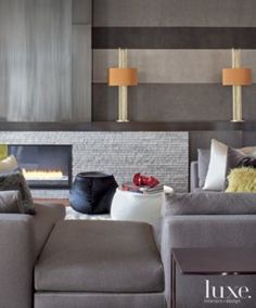 Porta Romana lamps add pops of color to the room. See more at www.luxesource.com. #luxe #luxemag #luxury #design #interiordesign #interiors #home #house #dwelling #residential #decor #homedecor #interiordecorating #interiordesignideas #architecture