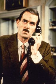 John Cleese - Fawlty Towers  one of the all time great tv characters