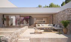 Villa Design, House Design, Casa Patio, Spanish House, Mediterranean Homes, Stone Houses, Facade House, Modern Architecture, Luxury Homes