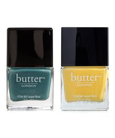 Turn heads with perfectly polished nails done in either or both of these nail lacquers! Victoriana is a textured twinkling vintage pale blue, while Cheeky Chops boasts a bright yellow shade. The high-quality, non-carcinogenic formulas are runway-ready but safe and stylish enough for everyday wear.