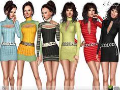 ekinege's Turtleneck Sweater Dresses - Set 105