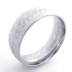 KONOV Jewelry The Lord of the rings Style Stainless Steel Band Ring, Silver (Available in Size 7, 8, 9, 10, 11, 12, 13) (bestseller)     I WANT THIS MOM!!!!!!!!!!!