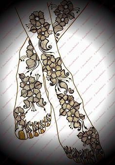 henna feet design