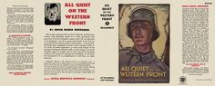 All Quiet on the Western Front by Erich Maria Remarque - Little, Brown and Company, first printing. Book Making, Mini Books, Book Covers, Magazines, Barbie, Printing, Printable, Brown, Jackets