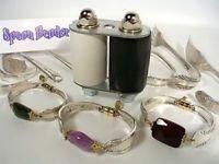 Original Spoon Bender Making Silver Bracelets Jewelry Jem Wire Bead Vintage Gold for sale online Fork Jewelry, Silverware Jewelry, Jewelry Tools, Jewelry Crafts, Beaded Jewelry, Gold Jewellery, Silver For Jewelry Making, Diy Jewelry To Sell, Vintage Silver Jewelry
