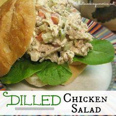 Dilled Chicken Salad Recipe    whatscookingamerica.net    #dill #chicken #salad