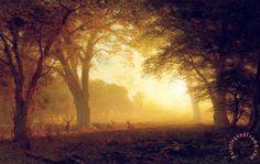 Golden Light of California painting  -  Albert Bierstadt Golden Light of California Art Print