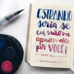 """O sal viria doce para os novos lábios..."" 💕 @nandoreis . . . . #clauhandlettering #nandoreis #nando #allstar #citacao #quote #musica #music #lettering #handlettering #handmade #handfont #modernart #moderncalligraphy #caligrafia #caligrafiamoderna #aquarela #watercolor #kohinoor #watercolour #waterbrush #art #portoalegre #mpb"