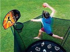 basketball fan gets the chance to slam-dunk the ball from amazing . Trampoline Basketball, Basketball Kit, Backyard Trampoline, Trampolines For Sale, Slam Dunk, Tent Camping, Things That Bounce, Australia, Fun