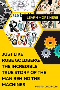 Discover how Rube Goldberg followed his dreams to become an award-winning cartoonist, inventor, and even an adjective in the dictionary in this inspiring and funny biographical picture book. Written by award-winning author Sarah Aronson, JUST LIKE RUBE GOLDBERG: THE INCREDIBLE TRUE STORY OF THE MAN BEHIND THE MACHINES is the perfect picture book for any creative-thinking child. | engineering | science | projects | simple | NGSS | biography | Science Websites For Kids, Science Games For Kids, Art Games For Kids, Coloring Games For Kids, Engineering Science, Science Projects, The Incredible True Story, Rube Goldberg, Reading Specialist