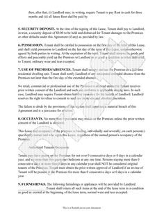 Lease Agreement  Free Rental Agreement Form Application