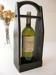 Wood wine carrier Wine tote by WoodaCooda on Etsy: