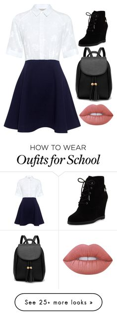 """""""School Ready, You Thought!"""" by sadieaclark on Polyvore featuring Paul & Joe Sister, MICHAEL Michael Kors and Lime Crime"""