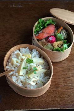 筍ご飯弁当  お弁当 obento lunchbox