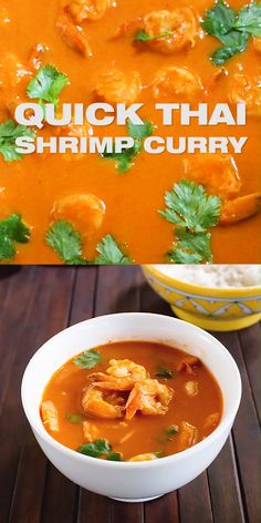 How To Make Thai Shrimp Curry Thai Red Curry Shrimp Recipe With Coconut Milk Prepare This Amazing Flavorful Thai Shrimp Curry Next Time You Crave Delicious Food And You Are Short On Time One Pan Only Ready Within 20 Minutes With Fresh Ingredients Serve O Thai Red Curry Shrimp Recipe, Thai Curry Recipes, Prawn Curry, Thai Food Recipes, Red Curry Recipe, Coconut Curry Shrimp, Best Shrimp Recipes, Fish Recipes, Seafood Recipes