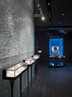 Transmaterial. Crackle Glass. Walls by Nathan Allan Glass Studios Inc.