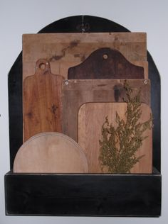 Many bread boards I have collected, we make the holder and sell in our shop.