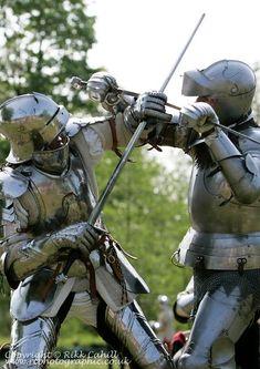 Demonstration of medieval combat.: