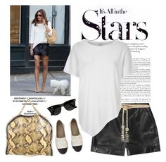 """""""# Olivia Palermo"""" by linefreh ❤ liked on Polyvore featuring Karl Lagerfeld, Yves Saint Laurent, STELLA McCARTNEY, Chanel, Ray-Ban, Valentino, River Island, women's clothing, women and female"""