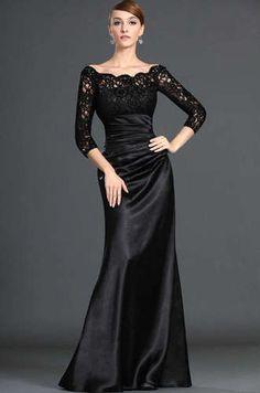 NEW Black Lace Evening Long Sleeve Wedding Dresses Prom Evening Dresses Custom   eBay