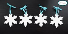 Meet the Dubiens: snowflake Christmas tree ornaments