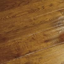 Golden hand scraped Oak wood flooring