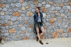 More looks by Karolina Gazela ***: http://lb.nu/modi_modisho  #military #trip #jeans #shorts #jacekt