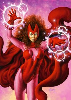 Scarlet Witch Art by Joe Jusko Marvel Comics Art, Marvel Heroes, Marvel Avengers, Marvel Girls, Comics Girls, Dragon Ball Z, Marvel Vision, Female Comic Characters, Super Hero Costumes