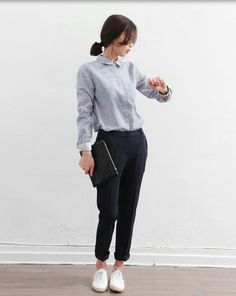 Very Light and Fresh Look. 47 Fashionable Fashion Ideas To Wear Today – Casual Fall Fashion Style. Very Light and Fresh Look. Work Fashion, Asian Fashion, Fall Fashion, Casual Outfits, Fashion Outfits, Womens Fashion, Fashion Styles, Fashion Clothes, Casual Wear