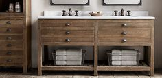 Bathroom---Printmaker's Bath Collection Antiqued Pine | Restoration Hardware