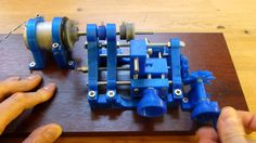 3D Printed lathe in operation #3DPrinting #Manufacturing #STEM
